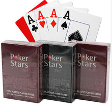 2 conjuntos/vários cartões de poker de plástico de texas holdem em à prova dwaterproof água e matte poker board game cartões de poker de alta qualidade