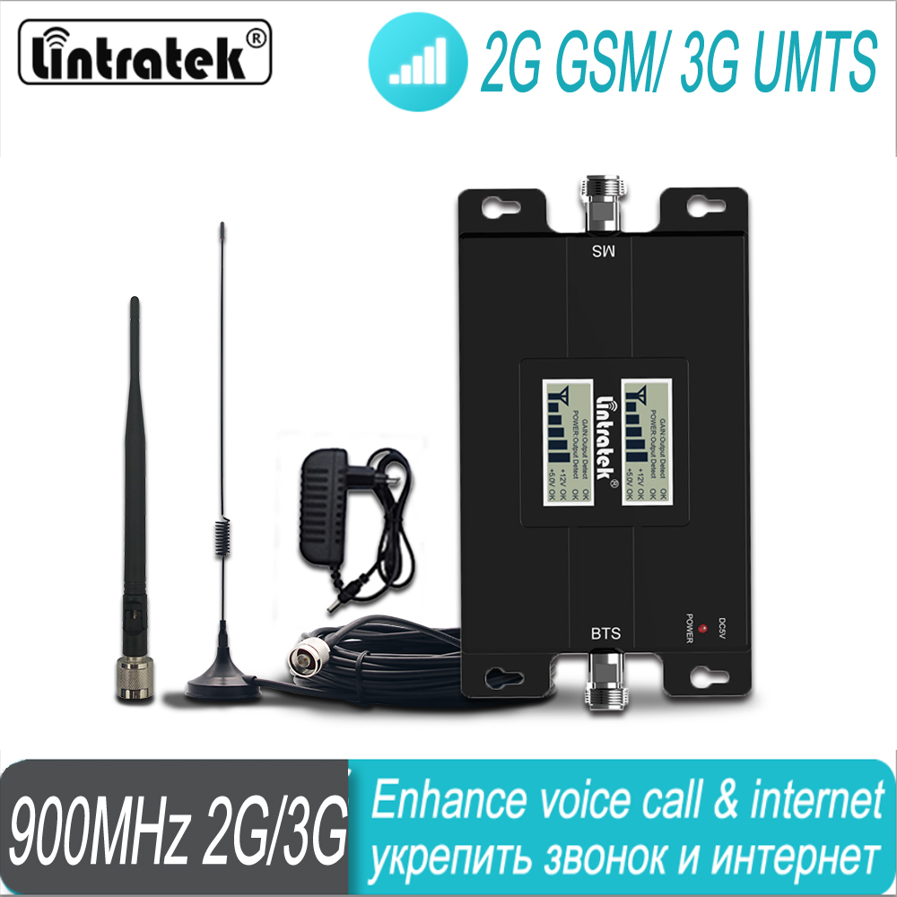 Lintratek GSM Dual Band Home Use Signal Booster 2G 900mhz 1800mhz Mobile Cellular Signal Repeater Amplifier Set #50