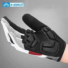 INBIKE pełne rękawiczki rowerowe ekran dotykowy MTB Bike rękawice rowerowe wyścielane żelem Outdoor rękawice sportowe do ćwiczeń akcesoria rowerowe tanie tanio NYLON Poliester COTTON Z pełnym palcem Jazda na rowerze IF239 Zmywalna