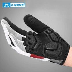 INBIKE pełne rękawiczki rowerowe ekran dotykowy MTB Bike rękawice rowerowe wyścielane żelem Outdoor rękawice sportowe do ćwiczeń akcesoria rowerowe w Rękawiczki rowerowe od Sport i rozrywka na