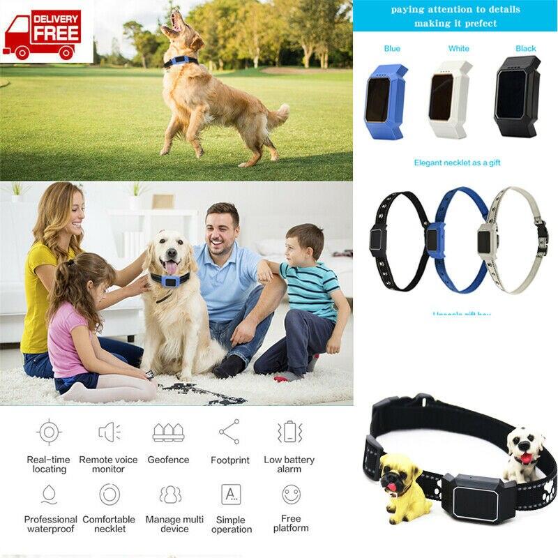 Mini Dog Cat Collar Anti-lost Pet Locator GPS GSM GPRS Tracker Waterproof Pets GPS Tracker