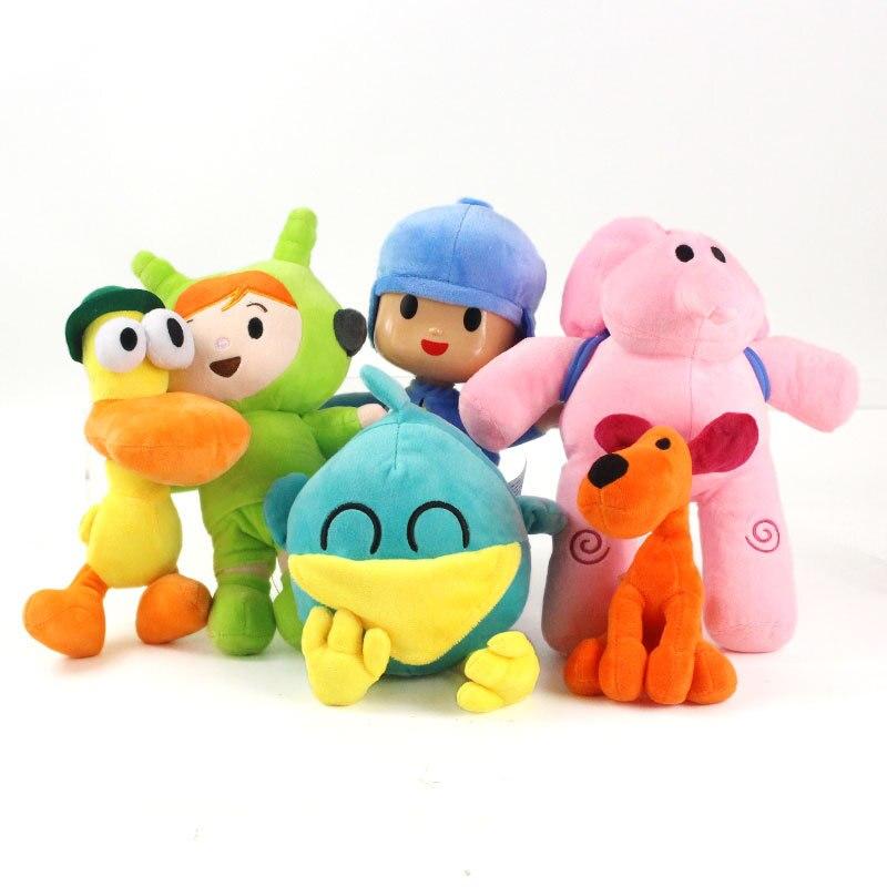 Плюшевые игрушки-животные Pocoyo, птица, утка, слон, милая мягкая плюшевая кукла, игрушка для детей, подарок 16-30 см