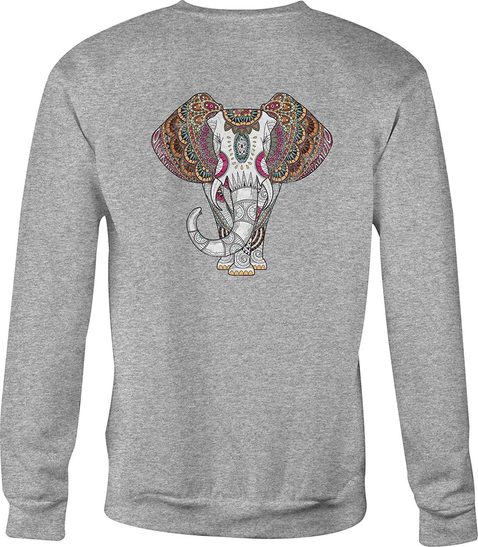 TSDFC толстовка с круглым вырезом, этнический Африканский слон для мужчин или женщин, унисекс, мужская, Женская толстовка с капюшоном