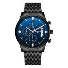Moda casual relógios masculinos à prova dfor água para homem relógio de negócios masculino cinto de malha de aço inoxidável simples relógio de quartzo reloj hombre