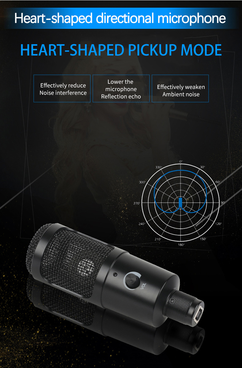 Felby USB Podcasting Condenser Microphone 16