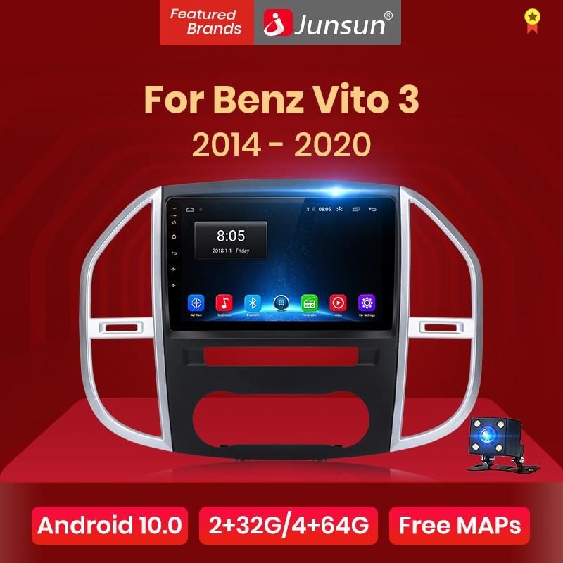 Reprodutor de vídeo dos multimédios do rádio do carro de junsun v1 android 10.0 dsp carplay gps automático para o benz vito 3 2014 - 2020 2 din dvd