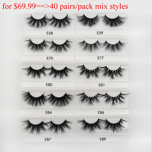 Image 4 - 30/40/100/pairs Visofree Mink Eyelashes with Tray No Box Handmade Natural False Eyelashes Full Strip Lashes Reusable Long lashes