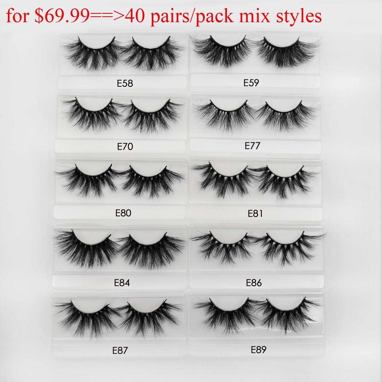 30/40pairs/pack Visofree Mink Eyelashes with Tray No Box Handmade Natural False Eyelashes Full Strip Lashes Reusable Long lashes