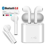 Auriculares inalámbricos Bluetooth I7 TWS en la oreja auriculares de música Invisible con mi c para Apple iPhone 7 Samsung Xiaomi mi 9 A3 Lite