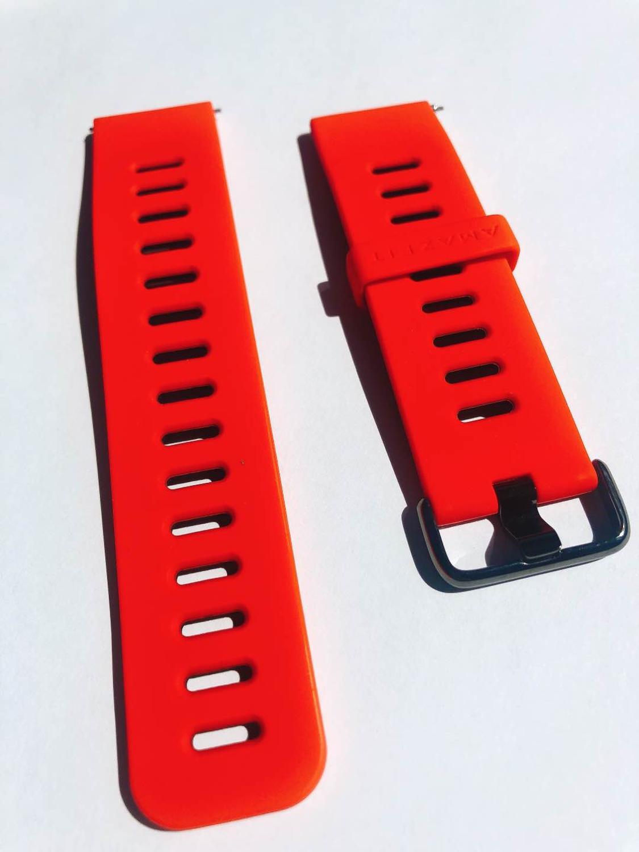 Original Amazfit Pace Strap Smart Watch Black Red Strap For Amazfit Smart Watch