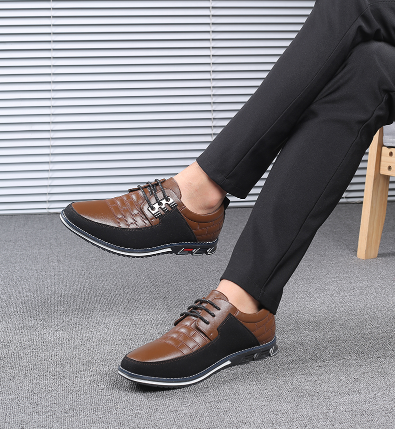 He6fe3a45e8b84142b0a0d1c7cefd6b3dG Design New Genuine Leather Loafers Men Moccasin Fashion Sneakers Flat Causal Men Shoes Adult Male Footwear Boat Shoes