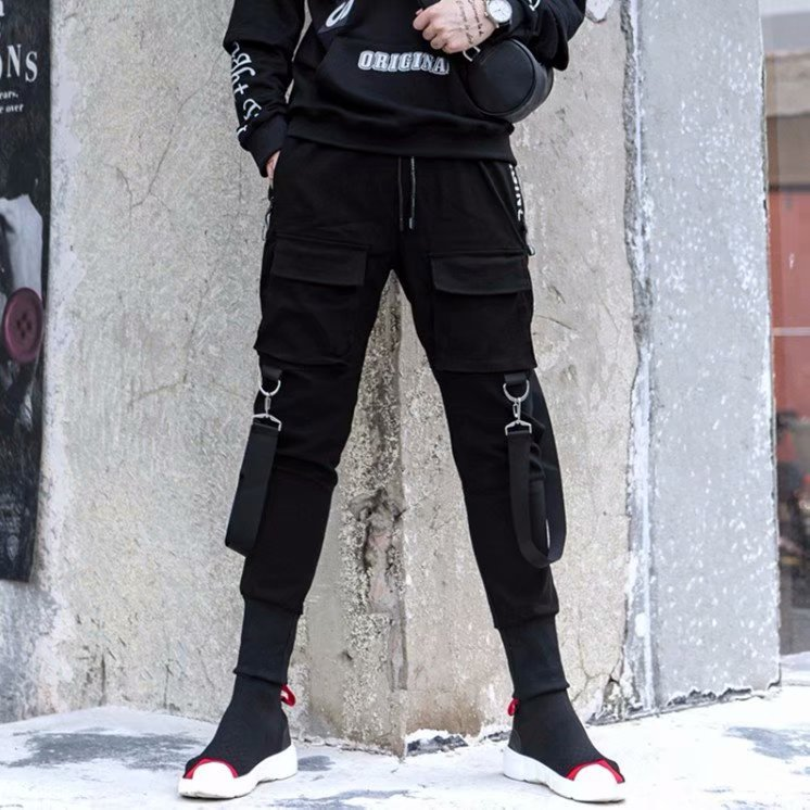 2019 Popular Brand Athletic Pants Men's Autumn Capri Pants Students Trend Bib Overall Teenager Fashion Loose Casual Pants