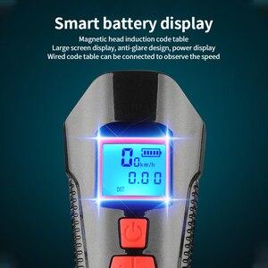 Image 2 - إضاءة دراجة هوائية مقاومة للماء USB شحن الدراجة الجبهة ضوء المصباح المقود الدراجات رئيس ضوء مقاوم للماء سرعة متر شاشة LCD