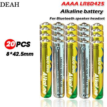 20 sztuk partia 1 5V LR8D425 AAAA baterie alkaliczne podstawowe baterie do zestawu słuchawkowego Bluetooth pióro laserowe pióro dotykowe suche baterie tanie i dobre opinie DEAH Bateria alkaliczna high 3 9 ohms 0 9V 8*42 5mm 3 years Touch screen electromagnetic pen touch pen Bluetooth Speaker Bluetooth headset