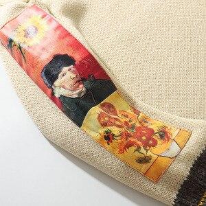 Image 3 - 2020 mężczyzn Hip Hop sweter sweter Streetwear obraz Van gogha haft sweter z dzianiny Retro Vintage jesień swetry bawełniane