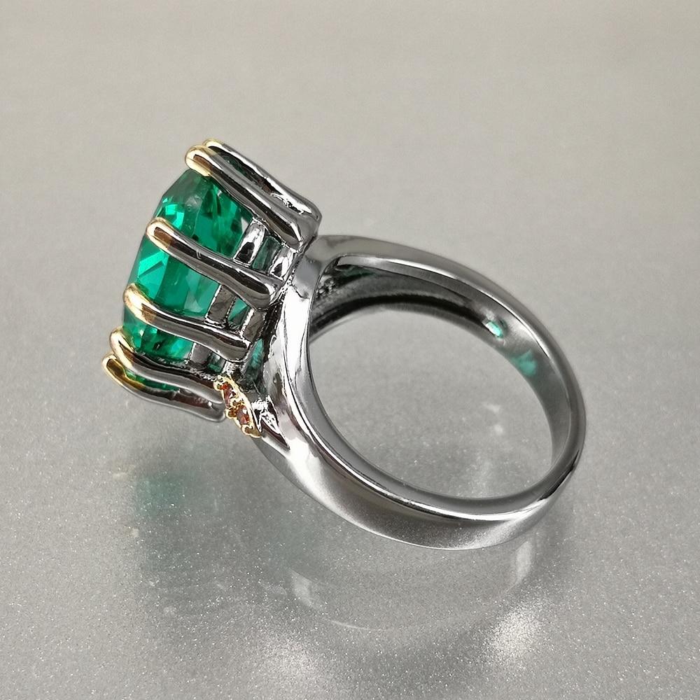 DreamCarnival1989 Big Green Zirconia Solitaire Wedding Ring for Women Delicate Fine Cut Dazzling Prong CZ Bridal Jewelry WA11876 3