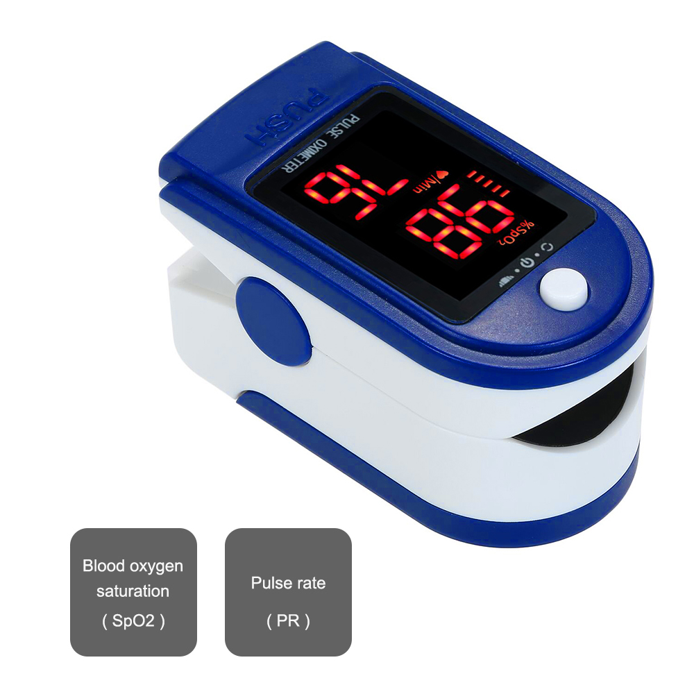 Blood Oxygen Monitor Finger Pulse Oximeter Oxygen Saturation Monitor Fast Reading SpO2 Monitor Oxygen Saturation Measuring Gauge