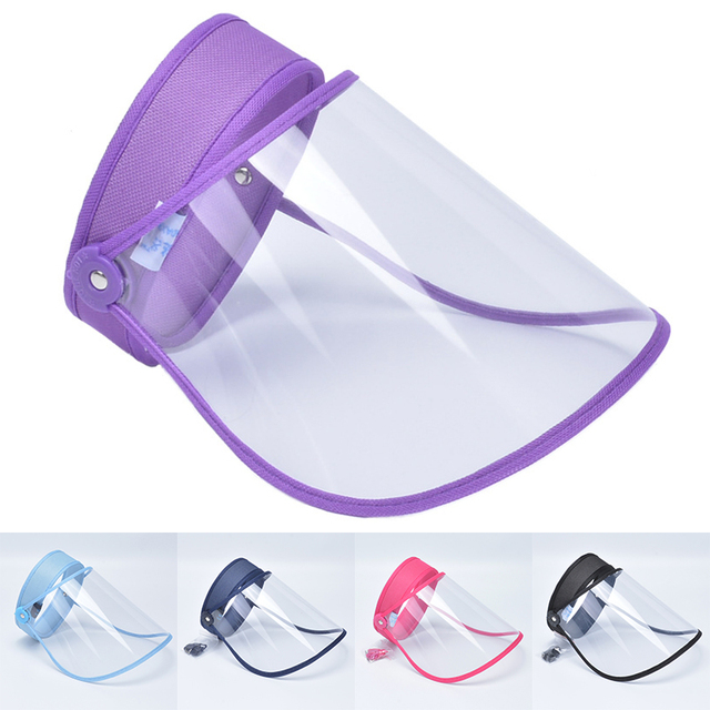 Safety Mask Clear Face Shield Screen Mask Visor Cap Flip Up Rotatable Adjustable transparent mask Prevent Saliva Splash Masks