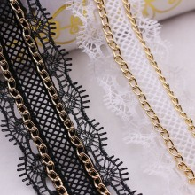 1yards/Lot White Black Pearl Beaded Lace Trim Embroidered Ribbon Fabric Handmade Wedding Sewing Clothing Accessories