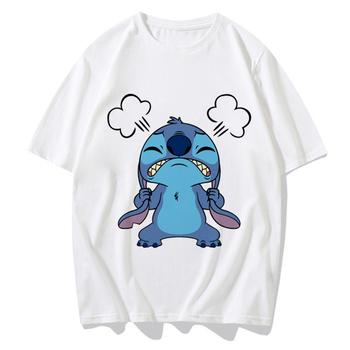 Koszulka damska z krótkim rękawem Disney Plus koszulka z krótkim rękawem z krótkim rękawem koszulka z krótkim rękawem Crewneck 90S lato hiszpania Ropa Tumblr Mujer tanie i dobre opinie REGULAR Sukno CN (pochodzenie) COTTON POLIESTER spandex NONE tops Z KRÓTKIM RĘKAWEM SHORT Dobrze pasuje do rozmiaru wybierz swój normalny rozmiar