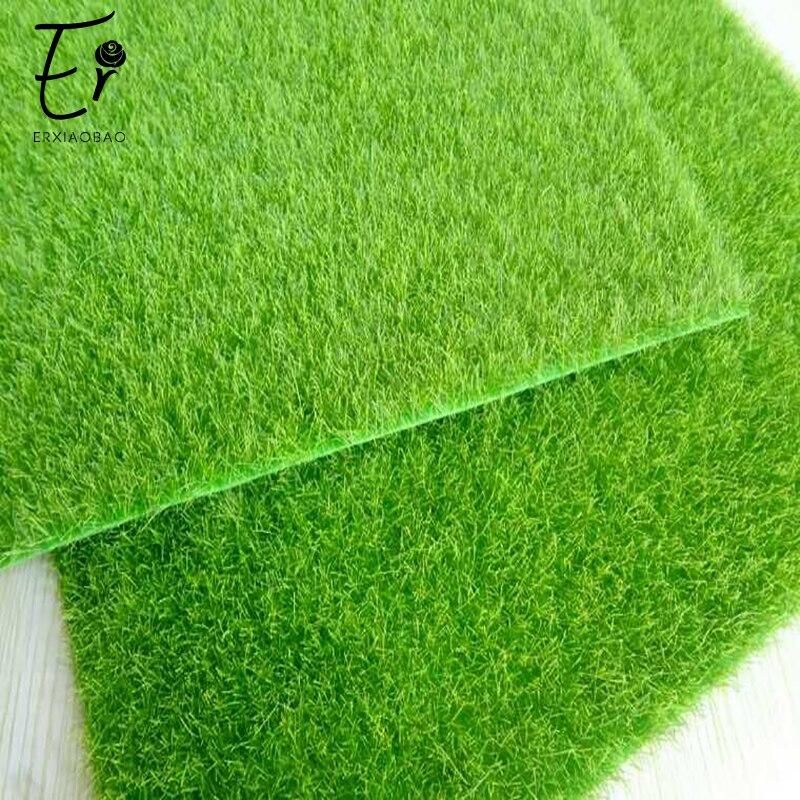 Erxiaobao 30*30 Cm Comfortable Artificial Lawn Fake Grass False Moss Decorative Material Flocking Turf Door Mat