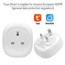 UK WiFi Smart Socket toma de corriente Control remoto Monitor de energía funciona con Amazon Alexa Google Home No requiere Hub(China)