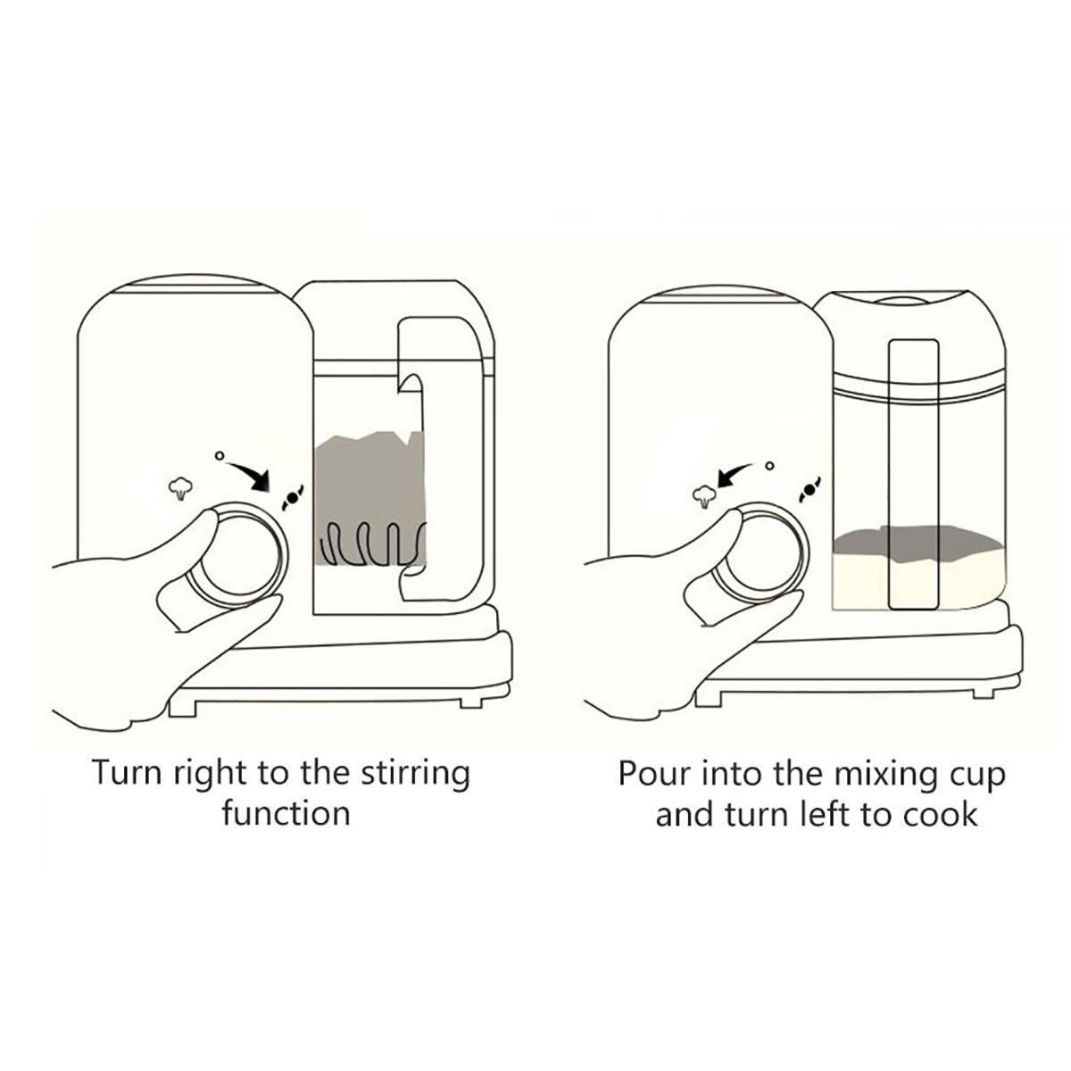 crianças fabricante de alimentos steamer mistura moedor