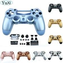YuXi استبدال مجموعة كاملة الإسكان شل وأزرار ل DualShock 4 بلاي ستيشن 4 PS4 برو V2 JDS 040 JDM 040 تحكم الإسكان