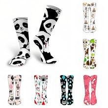 Новые модные женские дизайнерские носки с 3d принтом милые животными