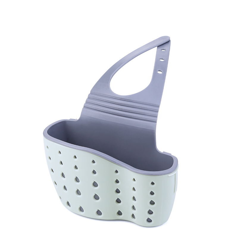Kitchen Sink Drain Rack Drain Rack Rubber Storage Basket Drain Basket Kitchen Supplies Sink Rack Hanging Bag Kitchen Shelf