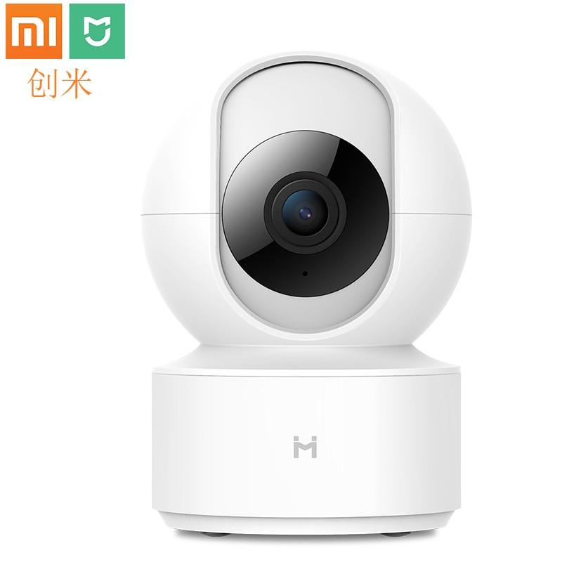 Xiaomi mi jia Chuang mi cámara IP inteligente 1080P HD cámara web videocámara WIFI inalámbrico 360 ángulo visión nocturna para mi hogar Cámara IP inalámbrica Wifi 1080 PTZ al aire libre velocidad cámara de seguridad Domo Pan Tilt 4X Zoom Digital red cctv vigilancia