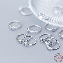 WANTME oryginalna 100% 925 Sterling Silver Unisex A-Z 26 liter nazwa początkowa pierścienie dla kobiet mężczyzn kreatywne pierścienie biżuteria