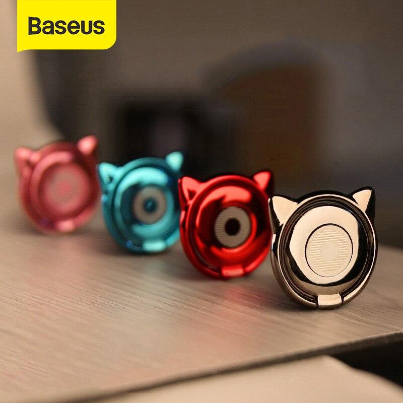 Baseus Metal Finger Ring Holder For IPhone Samsung Phone Ring 360 Cute Mobile Phone Holder Bracket For Magnetic Car Phone Holder
