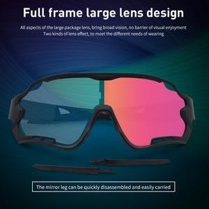 Image 4 - Okulary rowerowe męskie okulary rowerowe Polaroid fotochromowe 5 soczewki gogle damskie MTB Sun Bike sportowe akcesoria wędkarskie