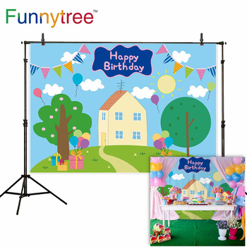 Funnytree background Birthday party Child Baby shower houses gift cartoon pig backdrop Photocall Photo photography photophone funnytree prince photography background baby shower royal blue crown damask birthday backdrop photocall photo studio printed