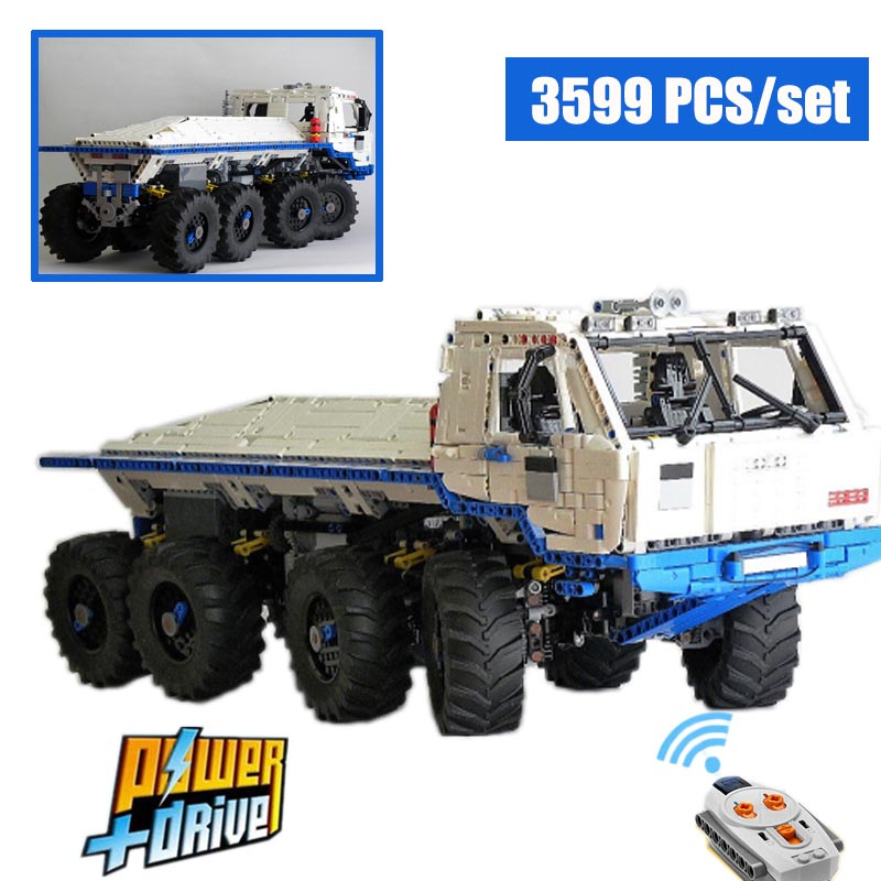 MOC-27092 Tatra T813 8x8 PROFA Engineering Car Tractor Toy Dump Truck Model Classic Toy Car Children Toys Engineering Vehicle