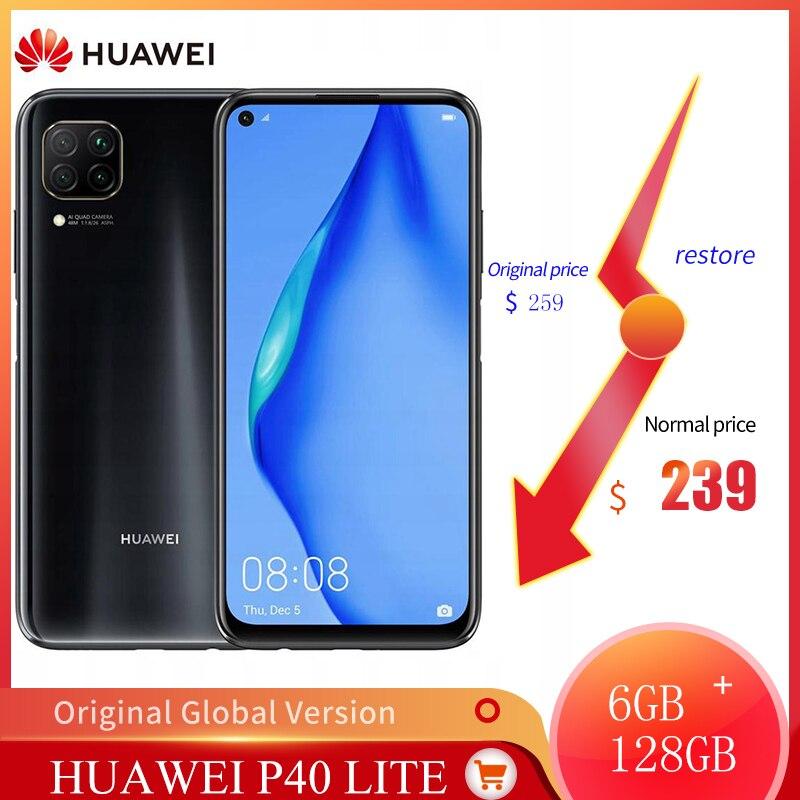 New Original Global HUAWEI P40 Lite 6GB+128GB Kirin 810 Smart Phone 48MP Camera 16MP Front Camera Global Version Android 10