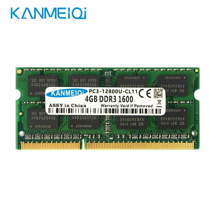 Ddr3l ddr3 4 gb 8 gb 1333mhz 1600 mhz SO-DIMM 1.35v 1.5v notebook ram 204pin nova memória do portátil kanmeiqi