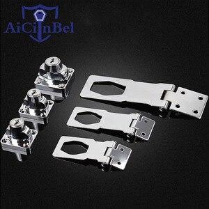 Stainless Steel Plating Self Locking Security Hasp Staple 2 Keys Lock Shed Cupboard Padlock Door/Shed/Gate/Van Lock/desk/close