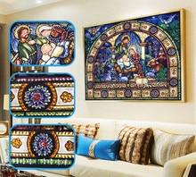 HUACAN 5D elmas boyama özel şekilli din simgeler elmas nakış portre ev dekorasyon