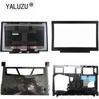Nueva carcasa YALUZU para Lenovo Ideapad 700-15 700-15isk  cubierta trasera LCD negra  cubierta de bisel LCD