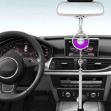 Logotipo do carro difusor de refrogerador de ar fragrância perfume espelho retrovisor pingente perfume para carro