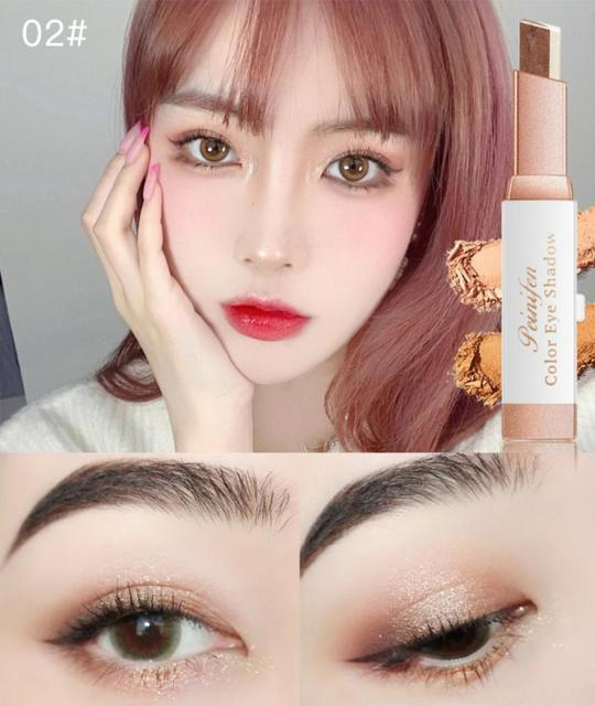 Two-color Gradient Stereo Eye Shadow Stick Pen Eyeshadow Stick Double Color Gradient Shadow Stick Shimmer Glitter Makeup TSLM1 5