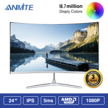 Anmite 23,8 дюймов FHD Hdmi HDR изогнутый TFT ЖК-монитор для соревнований игр светодиодный компьютерный экран HDMI/VGA