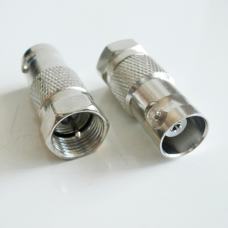 Bnc q9 para f conector soquete bnc fêmea para f macho plug bnc-f niquelado reto coaxial rf adaptadores