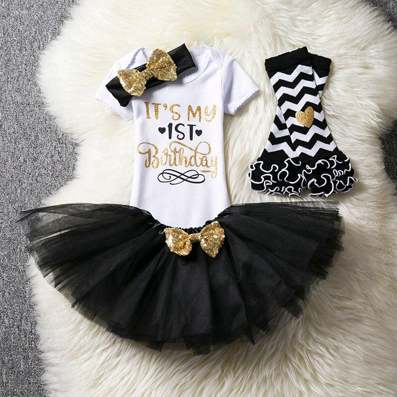 Bebê recém-nascido primeiro aniversário 3 pçs outfits tutu 1 ano festa crianças batismo 1st vestido fofo bonito do bebê vestidos com bandana