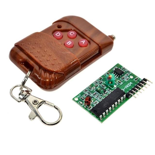 4 canais 1 conjunto chave de controle remoto sem fio kits módulo receptor ic 2262/2272 315mhz para arduino 5v