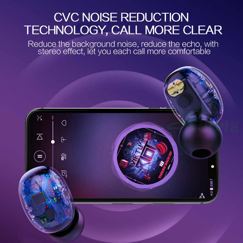 Roreta HBQ-Q32, беспроводные Bluetooth наушники, настоящие 3D стерео наушники, гарнитура, спортивные наушники с микрофоном, зарядная коробка