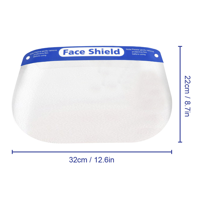 2/5/10pcs Protective Face Shield Reusable Full Face Protective Mask Splash-Proof eye safety Saliva Protection Clear Visor 5
