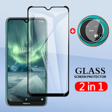 "2 In 1 Back Camera Lens Film Screen Protector Protective Tempered Glass For Nokia 6.2 7.2 Nokia6.2 Nokia7.2 6.3""(China)"